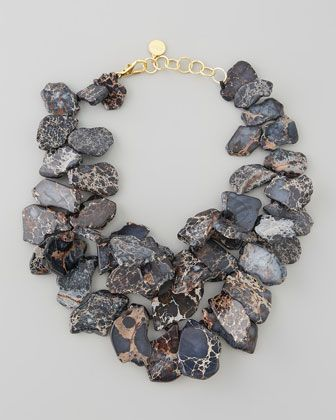 Chunky Jasper Necklace, Black by Nest at Neiman Marcus.