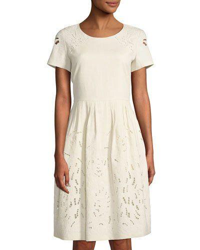 Hanalee Linen Eyelet Dress