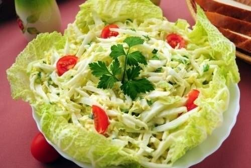 Рецепт салата с белой фасолью и огурцом