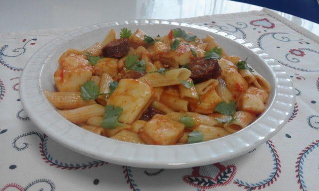 Gosto pelos Sabores: Macarronete com sabor a mar