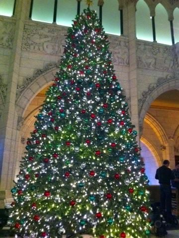 A Christmas tree in the foyer of the House of Commons. Photo courtesy of Mike Le Couteur @mikelecouteur