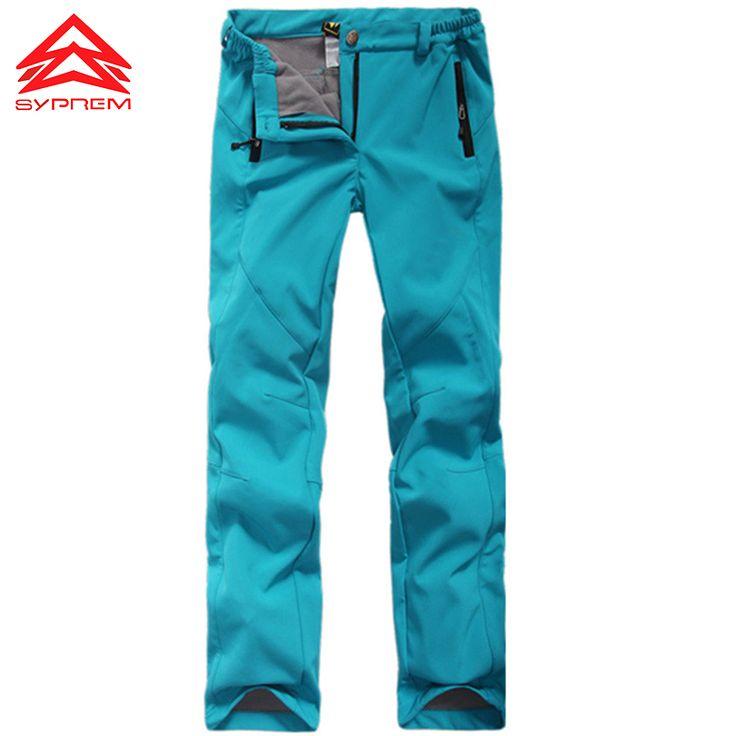 Women Hiking climbing pants Thick Warm Fleece Softshell Pant Fishing Camping Skiing Trousers Waterproof Windproof 2017 new X-XXL