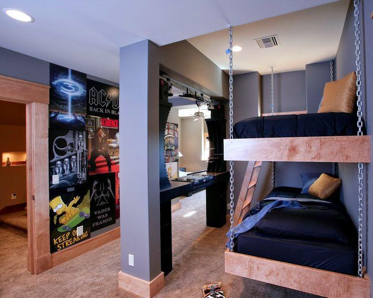 coole zimmer ideen fr jugendliche und kreative jugendzimmer einrichtungsideen mit hochbett und dj pult - Kreative Einrichtungsideen