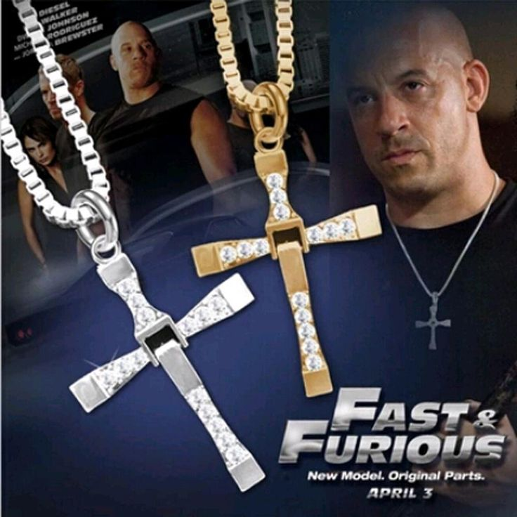 free shipping Fast and Furious  6  7 hard gas actor Dominic Toretto /  cross necklace pendant,gift for your boyfriend