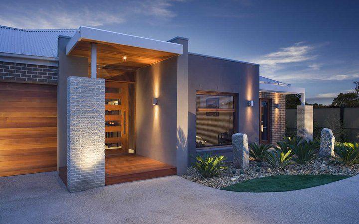 Grandview contemporary facade 4 new home designs for Metricon new home designs