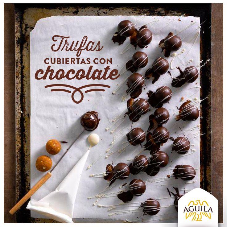 Trufas cubiertas de #chocolate