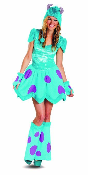 Amazon.com: Disguise Disney Pixar Monsters University Sassy Sulley Womens Adult Costume, Blue/Purple, Small/4-6: Clothing