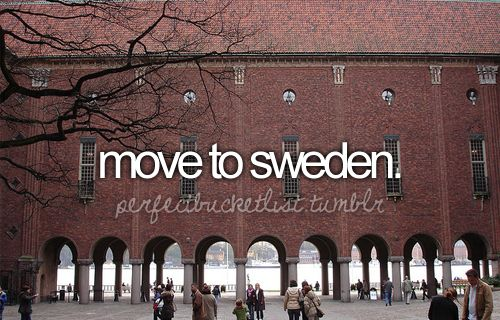 Just found out we may get the chance to move to Sweden as our next station! And my husband would being doing something close to his heart! Crossing our fingers!