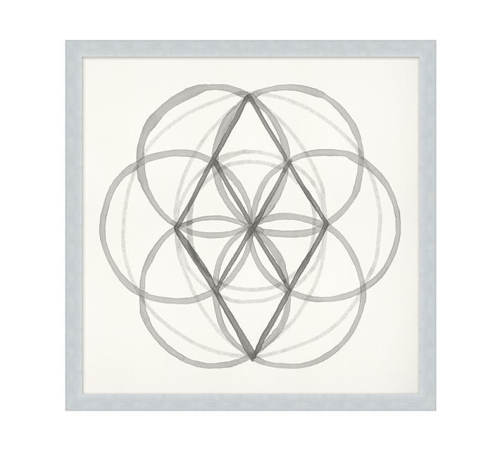 Neutral Sacred Geometry Framed Print 1