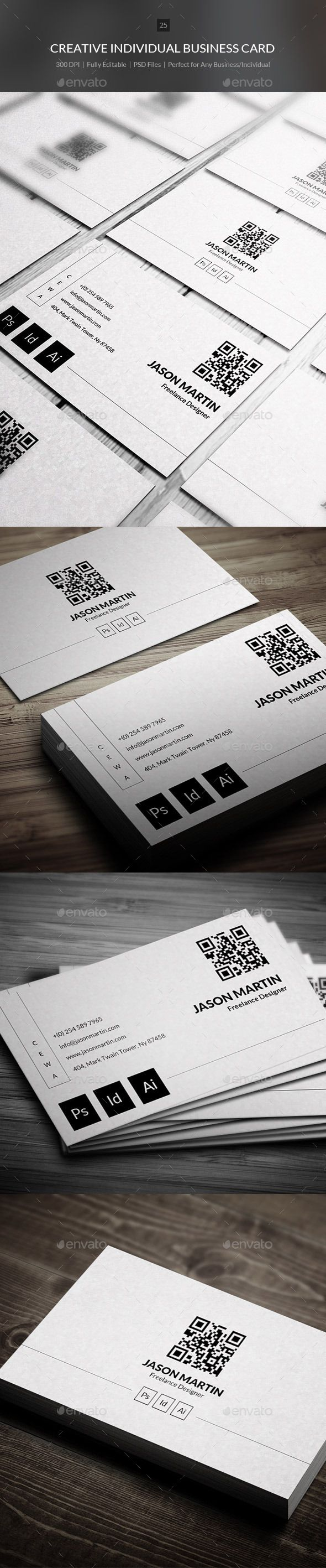 Creative Individual Business Card Tempalte #design Download: http://graphicriver.net/item/creative-individual-business-card-25/9630485?ref=ksioks