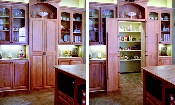 Creating hidable storage for the kitchen | Remodeling | Cabinets, Walls, Architects, Doors, Remodeling, Baton Rouge, LA