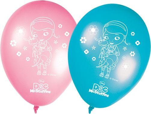 8 st. fina ballonger med tryck i temat Doktor McStuffins. Dekorera kalasrummet med massor av ballonger!