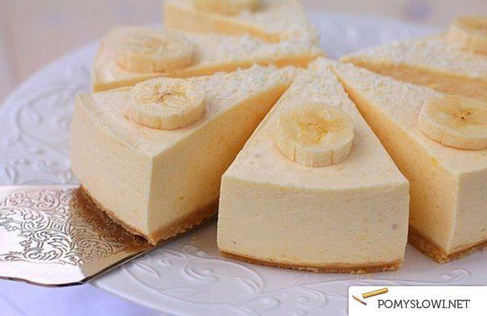 Bananowy sernik - BEZ PIECZENIA - Pomyslowi.net