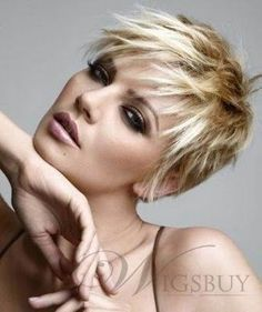 New Elegant Short Hairstyle Straight 100% Human Hair Monofilament Wigs