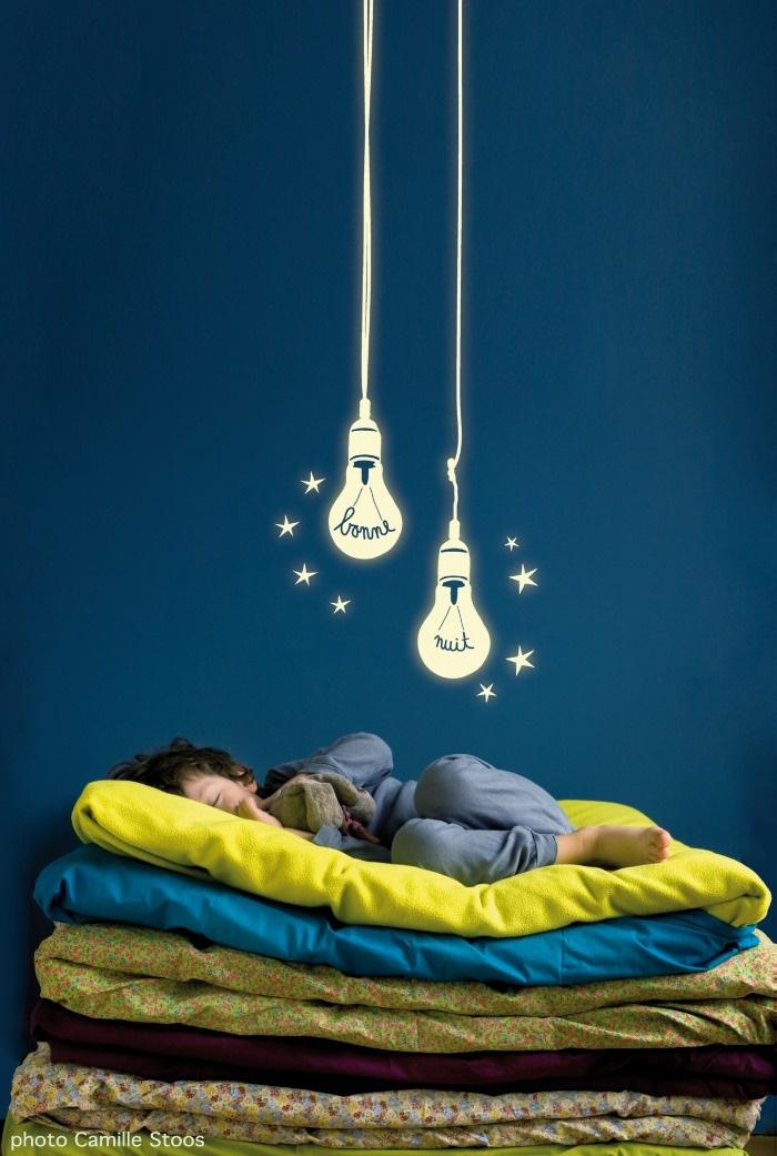 MIMI'lou ミミ・ルゥ 暗いところで光る電球のウォールステッカー Ampoules phosphorescentes