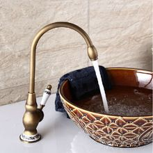 güzel güverte monte tek kulplu lavabo musluk antika pirinç sıcak ve soğuk su banyo karıştırıcı musluklar(China (Mainland))
