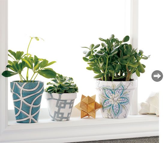 Will give this a go, fabric covered pots...