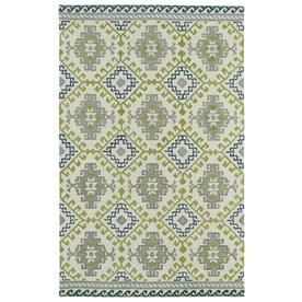 Kaleen Global Inspiration Ivory Rectangular Indoor Handcrafted Southwestern Area Rug (Common: 5 X 8; Actual: 5-Ft W X 7.