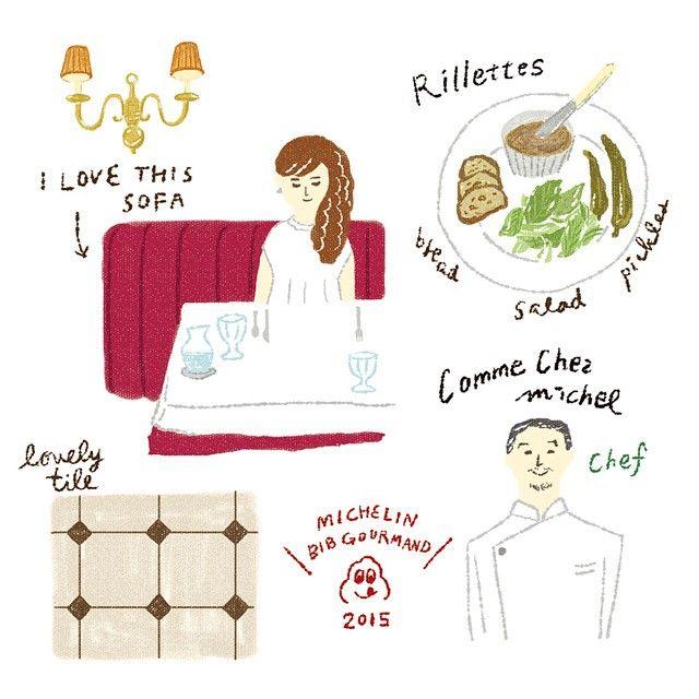 見送りに出てきたシェフにお二人でお店されるんですか?と聞かれてただの美味しいもの好きの夫婦です。  #illustration #lunch #french #restaurant