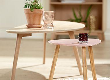 Trend: Nordic Retro - Salontafels in verschillende maten zijn leuk om met elkaar te combineren | JYSK