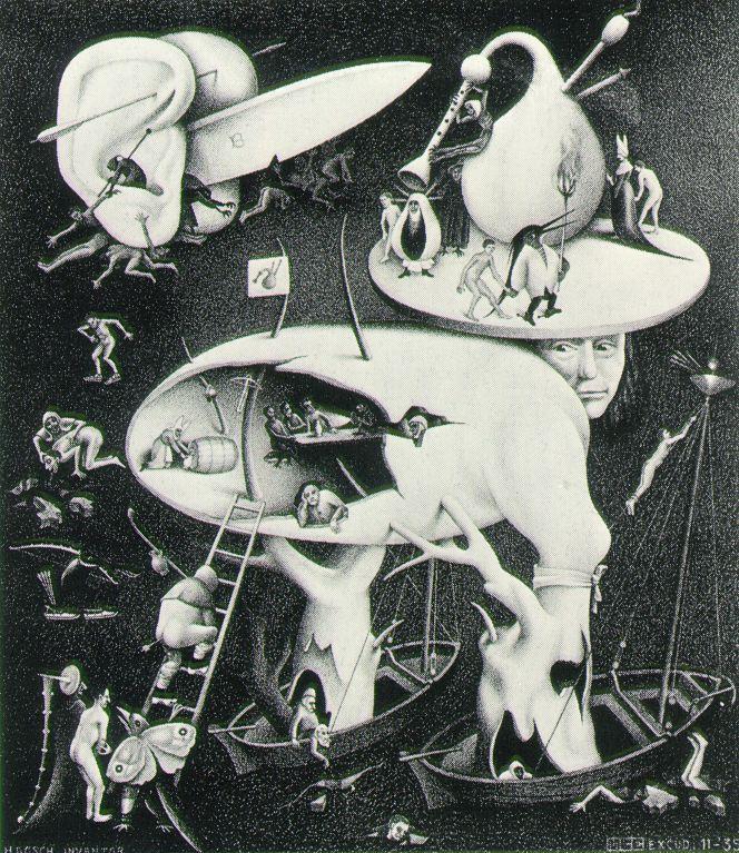 HellThings Artists, Hiernonymus Bosch, Hells, Mcescher, Art Prints, Mc Escher, M C Escher, Hieronymus Bosch, Escher Art