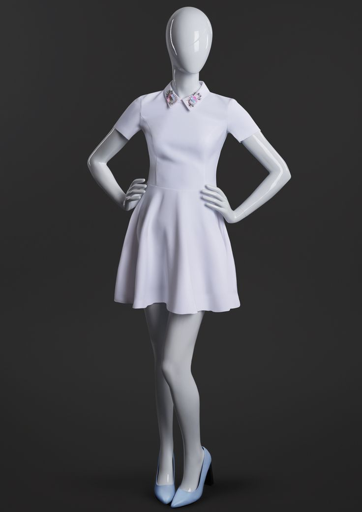 MISS MOLLY is a collection of young, dynamique female mannequins. Their distinctive feature is the frame of their head and sculpted hair line. #MoreMannequins #FemaleMannequin #boutique #whitedress