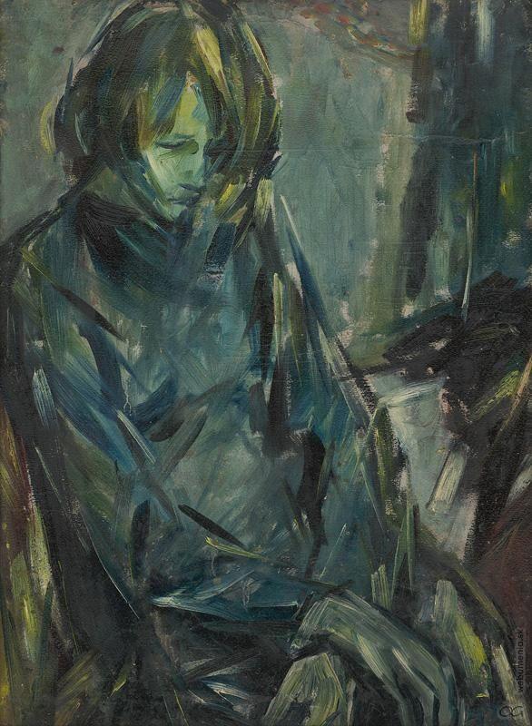 Vincent Hložník: Smutné dievča:1940