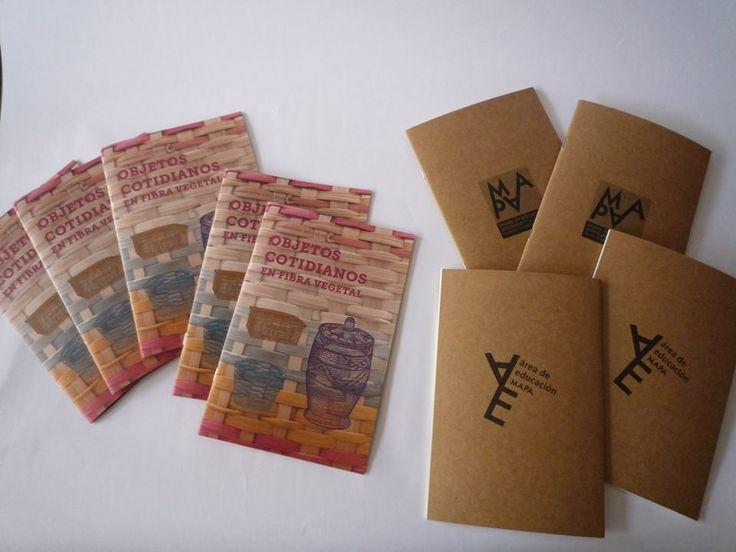 Cuadernillos educativos para visitas guiadas y libretas del MAPA.