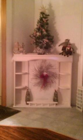 Upcycled Bedroom Hutch Into A Mantle Perfect For The