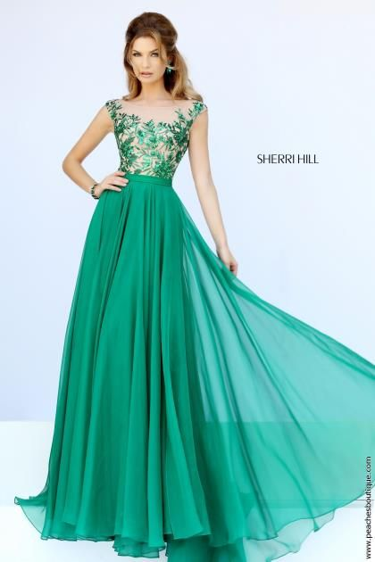 Sherri Hill Chiffon A Line Gown 11214