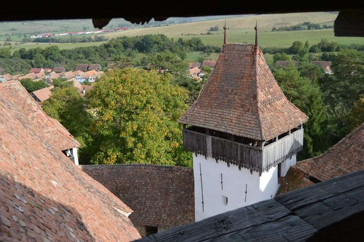 The charming Village of Viscri, Transylvania - medieval fortified church in Transylvania.