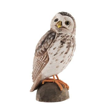 Charming and life-like DecoBird owl, carved by hand from linden wood. Painted with environmentally friendly paints.#DecoBird  #owl #eule #uggla #wildlifegarden.info #wildlifegarden