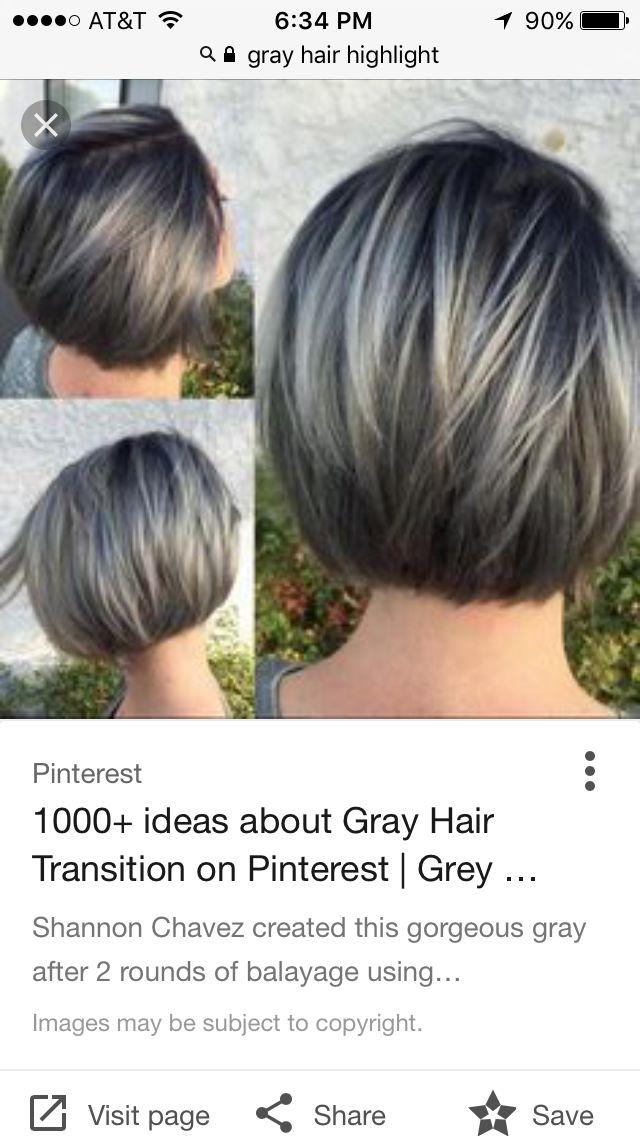 Grey hair transition