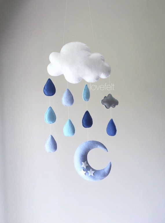 Bambino mobile  mobile Cloud  gocce di di GiseleBlakerDesigns