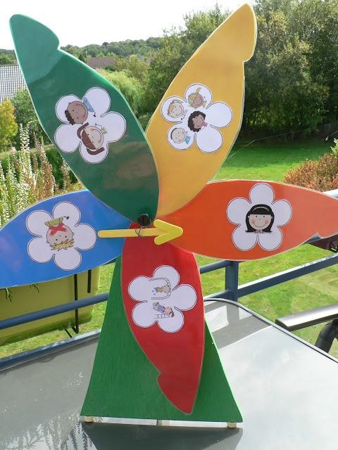 Juf Laidya's klasideetjes: Geluidsmeter-bloem
