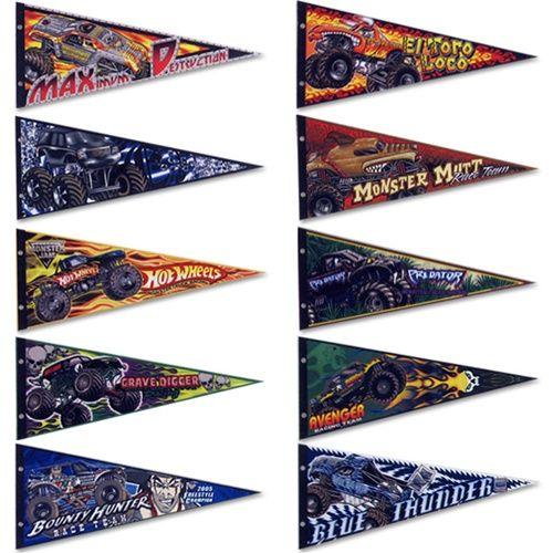 monster jam, monster trucks, pennant, flag