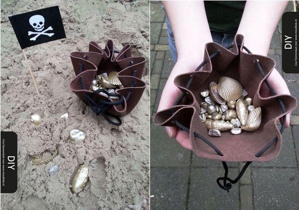 (leren) buidel maken voor piratenfeestje | Moodkids
