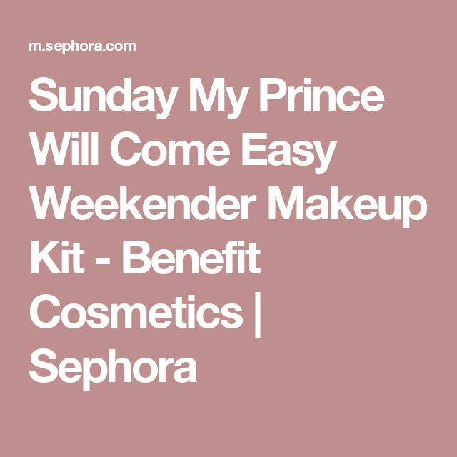 Sunday My Prince Will Come Easy Weekender Makeup Kit - Benefit Cosmetics | Sephora