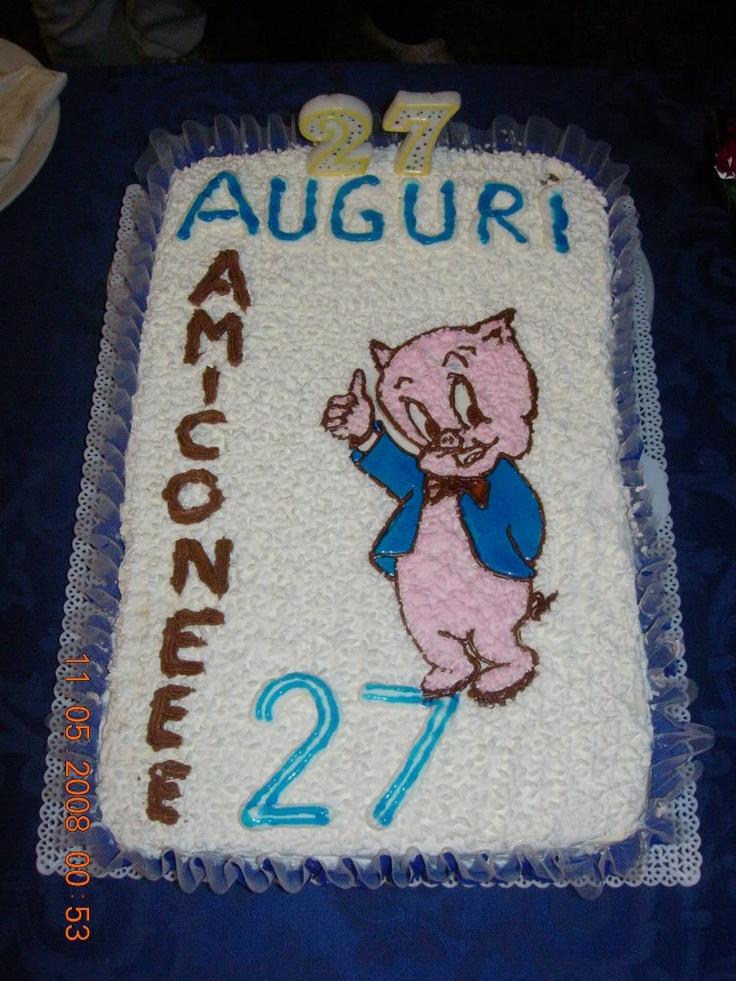 """Torta Porky Pig """"Warner Bros"""""""
