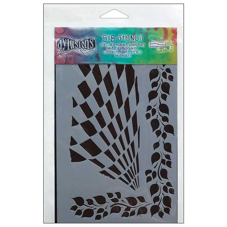Dylusions 5 x 8 in. Stencil: Luscious Leaves - DYS34261