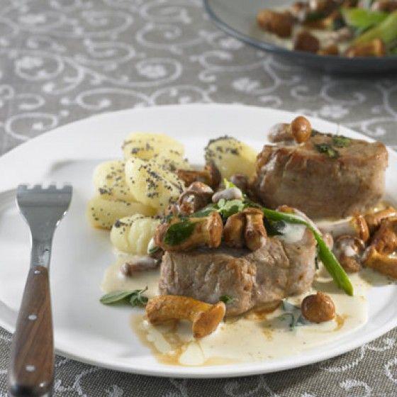 ESSEN & TRINKEN - Schweinefilet mit Pfifferlingen Rezept
