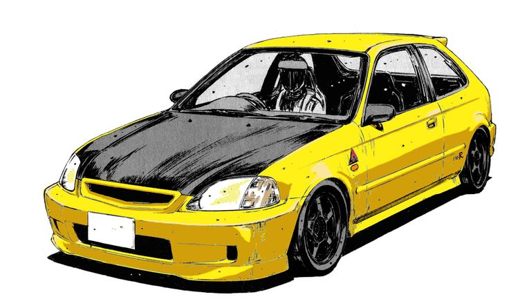 The car of Tomoyuki Tachi from Initial D. Warning : I just colored the car, the black and white original picture is drawn by Shuichi Shigeno, the creator of Initial D.