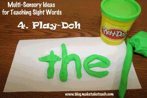 Seven multi-sensory ideas for teaching the Dolch 220 sight words.  Free multi-sensory templates.