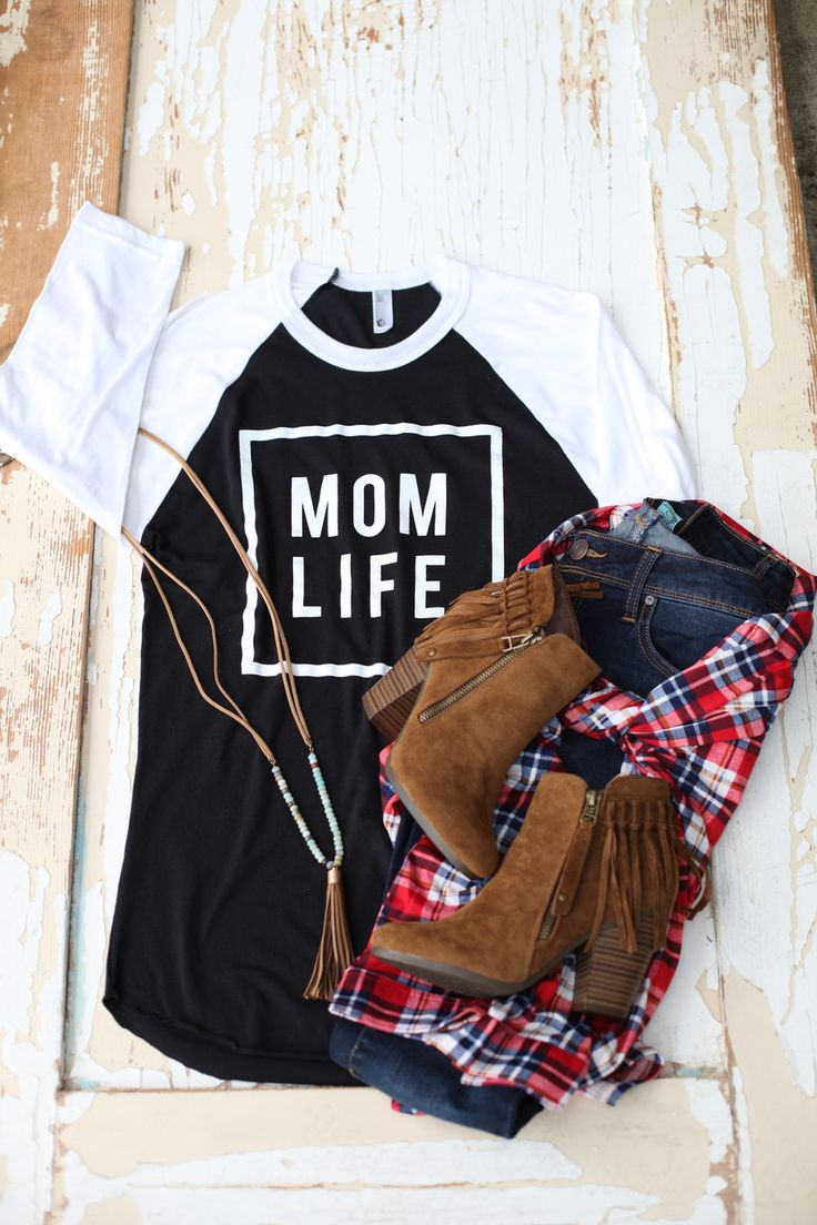 Mom Life Tee in Black w/White Sleeves (Unisex) - Be Inspired Boutique