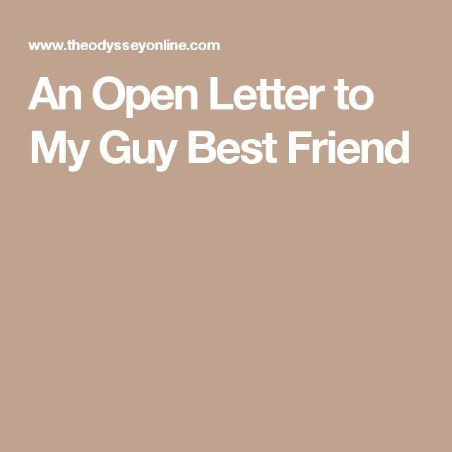 An Open Letter to My Guy Best Friend