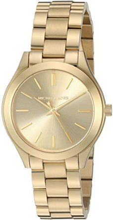 Michael Kors Watches Mini Slim Runway Three-Hand Watch from $48.99 by Amazon BESTSELLERS