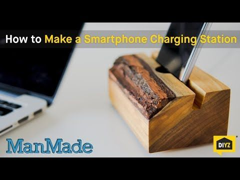 These days, almost everyone keeps their phone next to the bed; it's an alarm clock, a weather channel, and radio all in one device Make this simple phone charging station as a way of keeping your device neatly and stylishly propped up while you snooze Source: Youtube