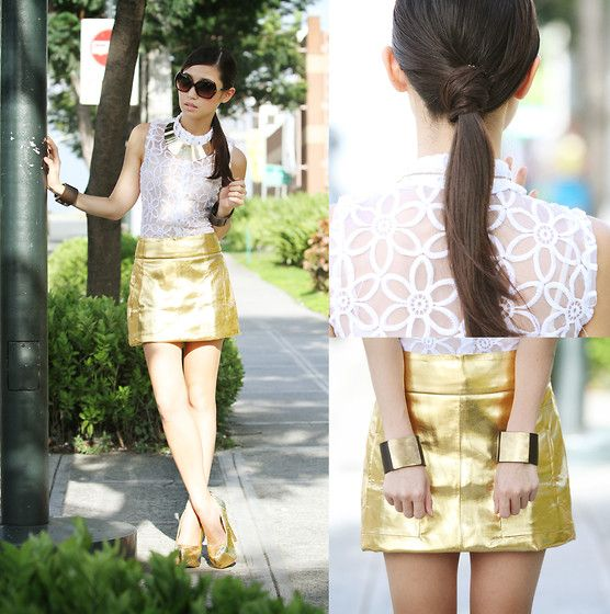 love the hair. knot to hide elastic: 3Gold Skirt 3, Www Kryzuy Com, Orifices Uy, Gail Uy, Fashion Forward, Fashion Bible, High Fashion, Fashion Bloggers, Hair Therapy