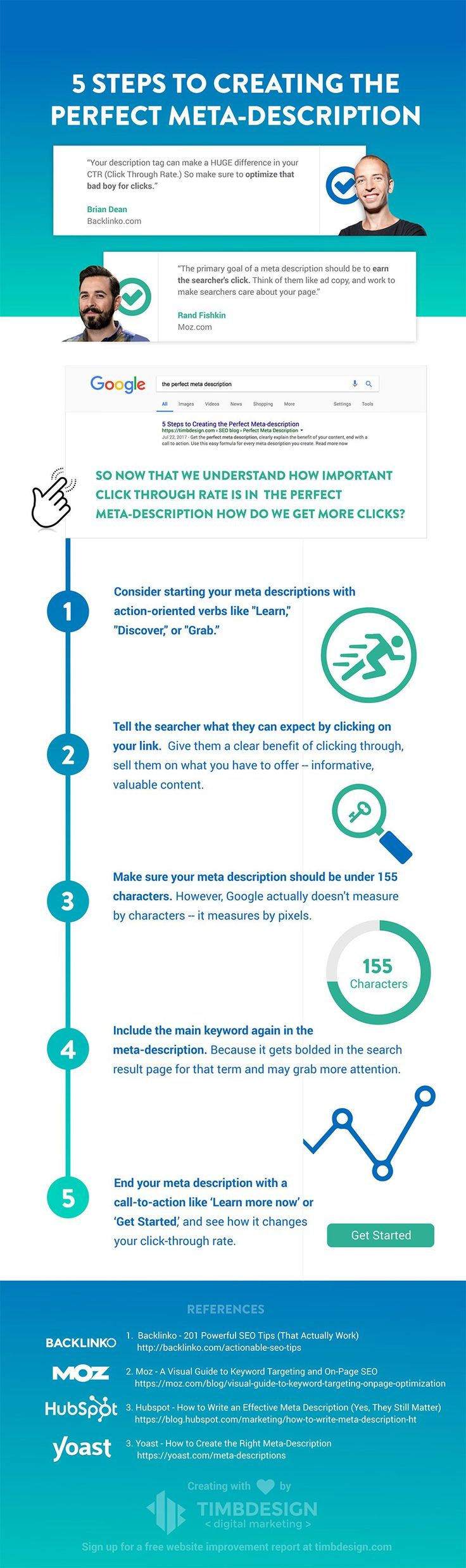 #SEO Tips for Beginners: 5 Simple Steps Get More Traffic from Google #Infographic
