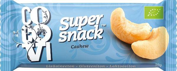 kauppa.ruohonjuuri.f - Super snack-patukka, Cashew, 1,79e / kpl (30g)
